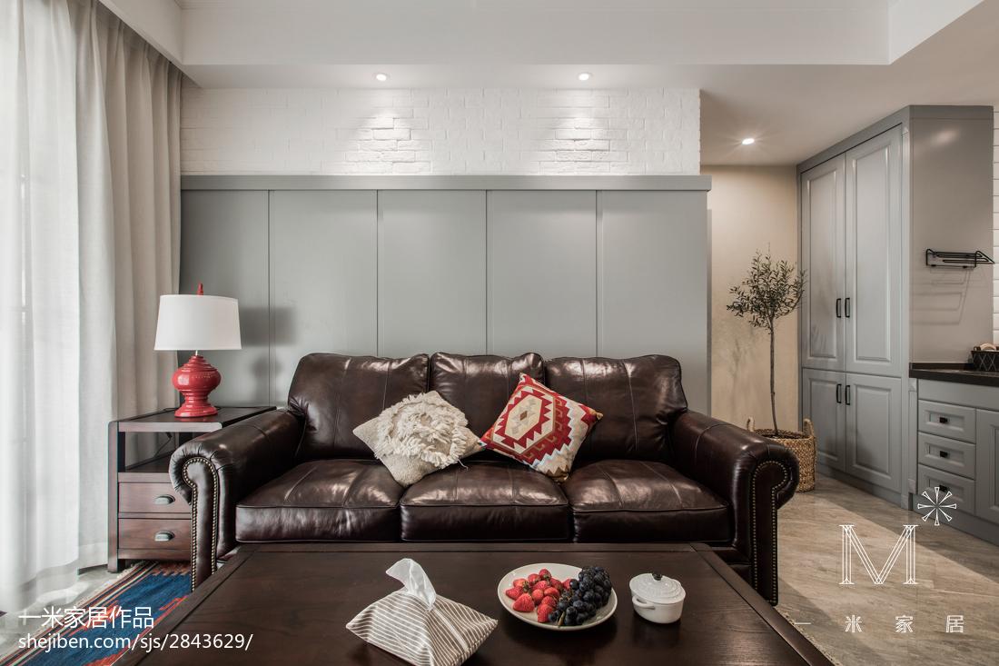 精选面积73平美式二居客厅装修欣赏图片大全