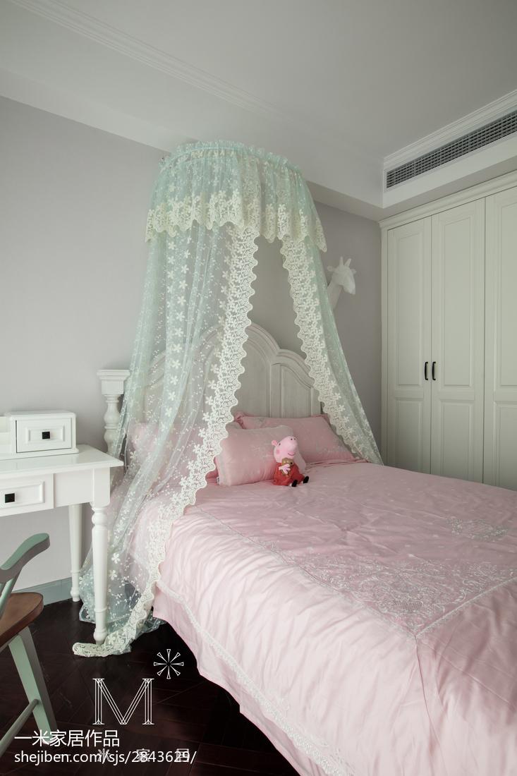 热门78平米二居儿童房美式装修实景图片大全