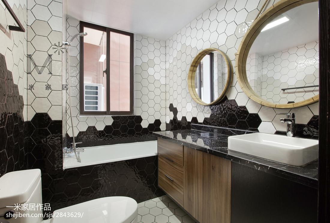 现代时尚家居卫生间装修效果图