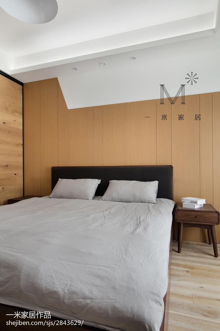 精美104平米三居卧室现代装饰图
