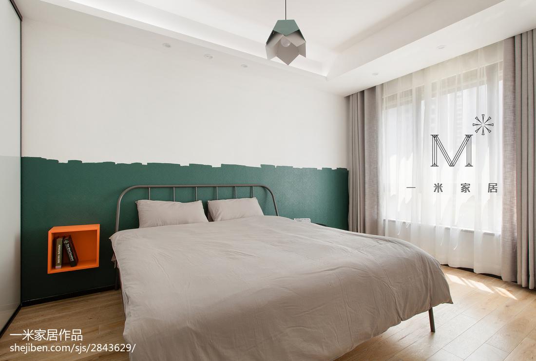 2018面积108平现代三居卧室装饰图片大全