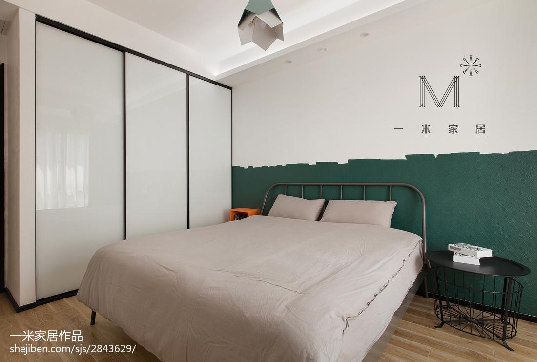 2018大小105平现代三居卧室装修效果图