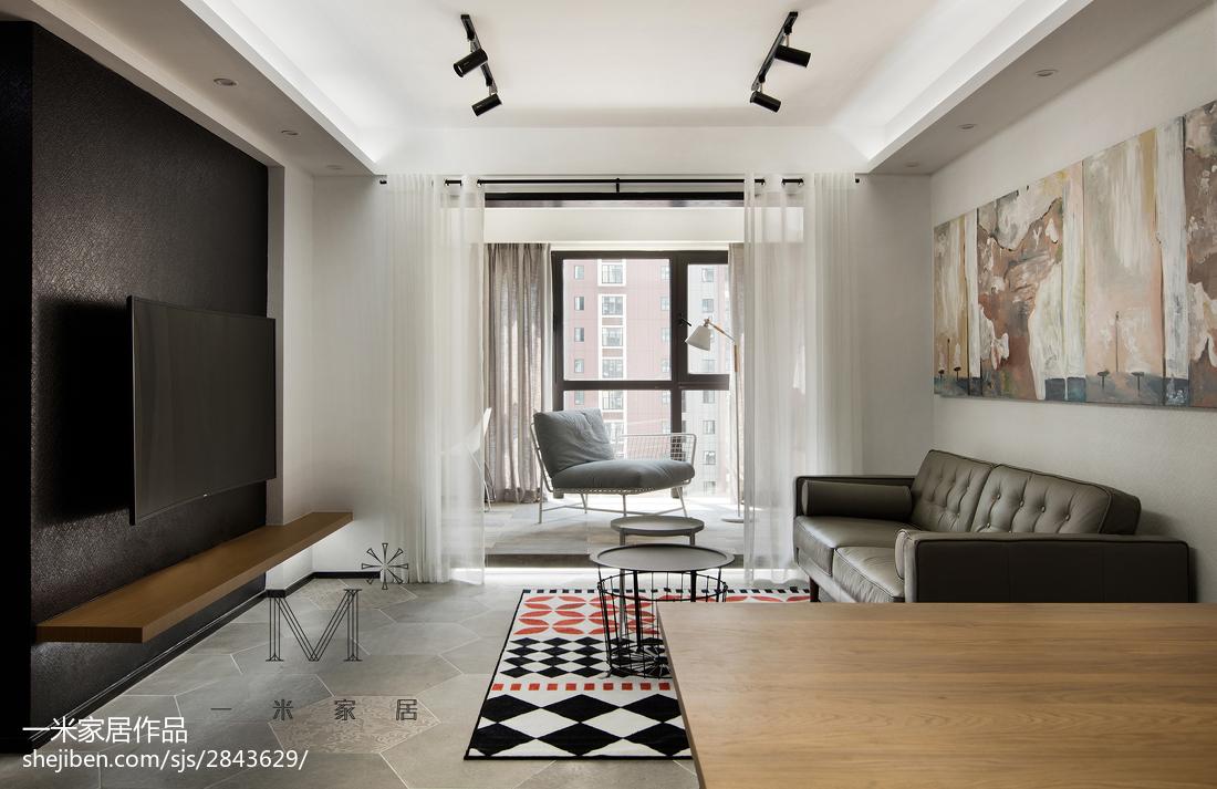 精致70平现代三居客厅装饰图