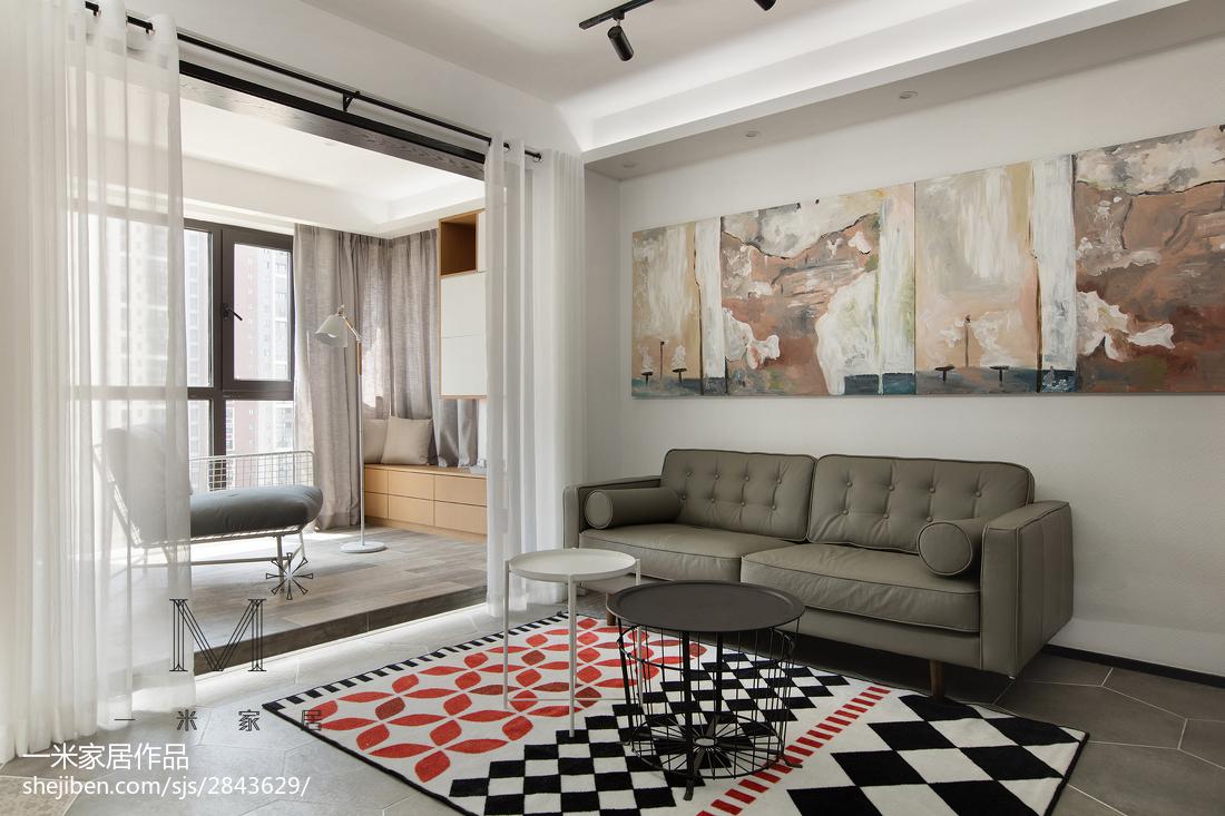 简洁92平现代三居装修案例