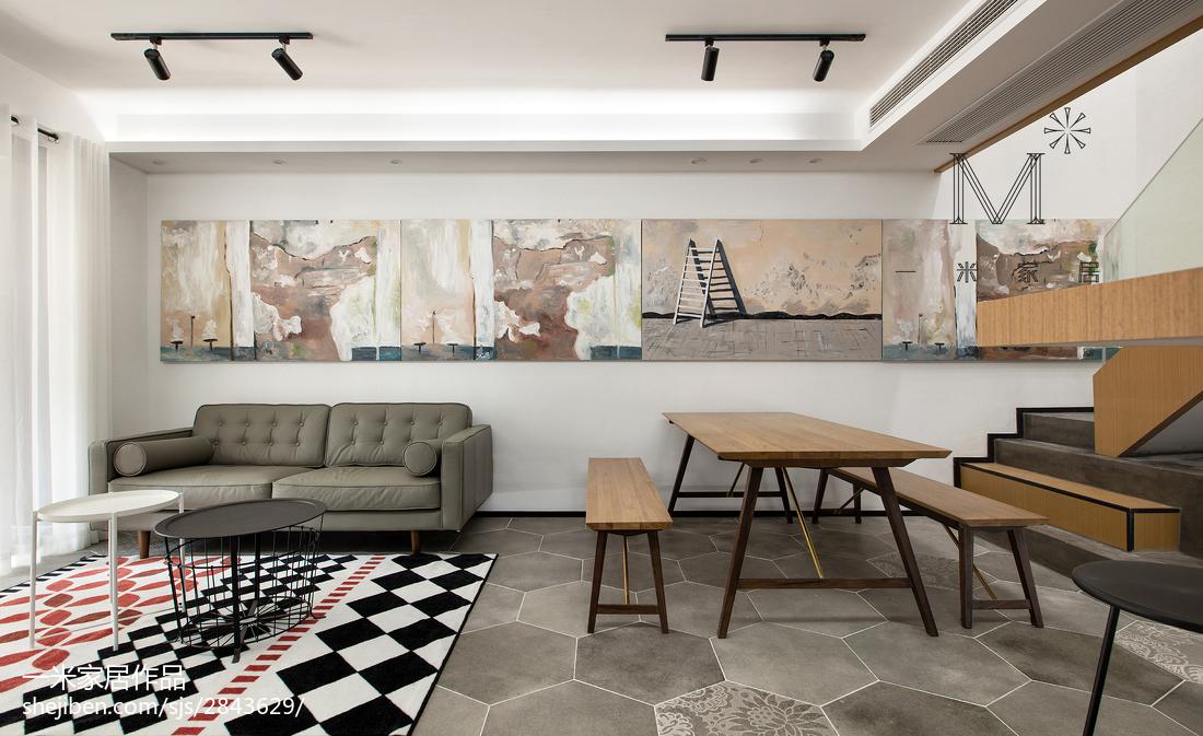 热门107平方三居客厅现代欣赏图片大全