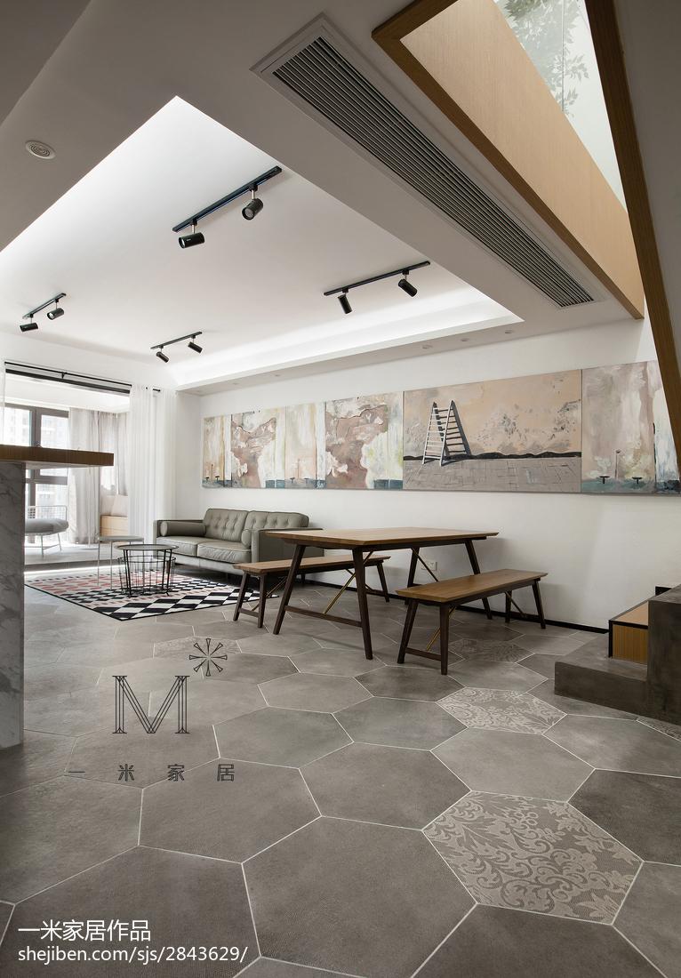 华丽106平现代三居餐厅效果图