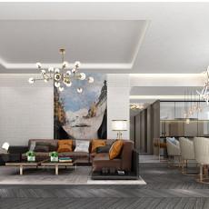 日式风格90平方米一室一厅装修效果图