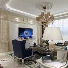 精选91平方三居客厅欧式装修实景图片大全