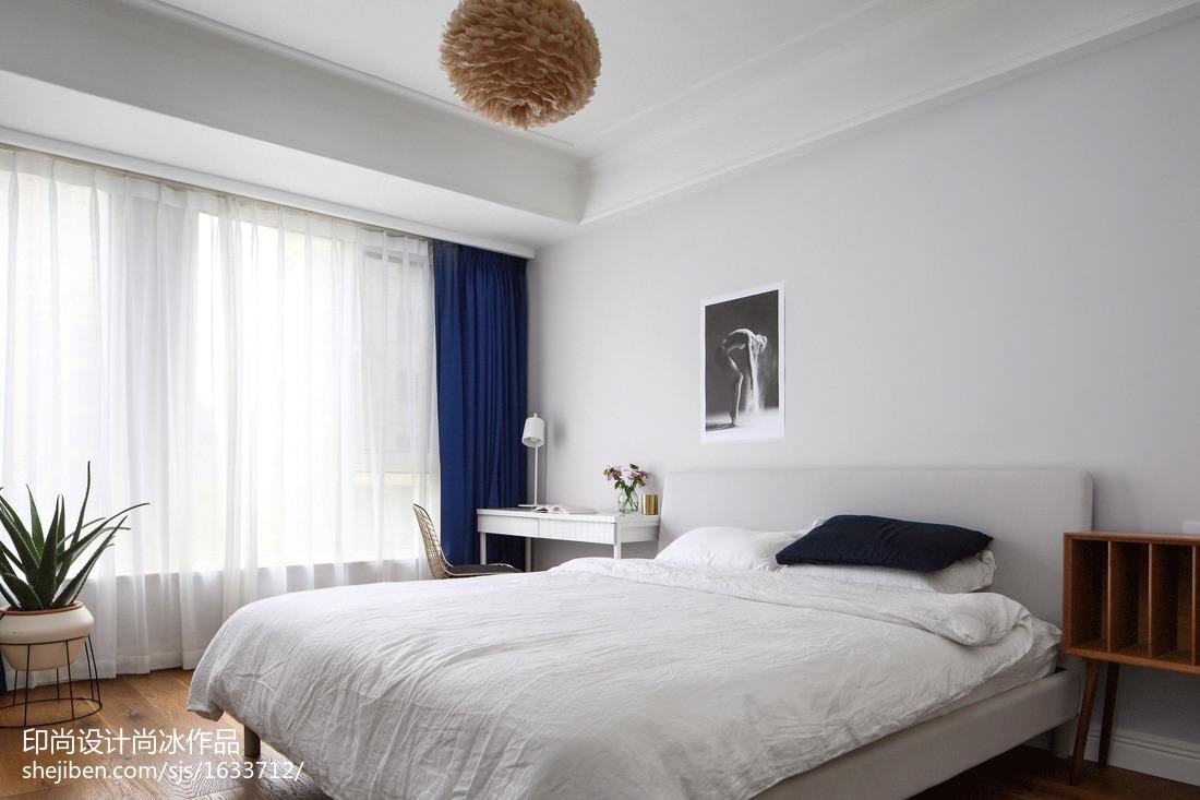 热门99平米三居卧室北欧效果图片大全
