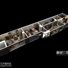 精选酒吧室内实木设计装修效果图片