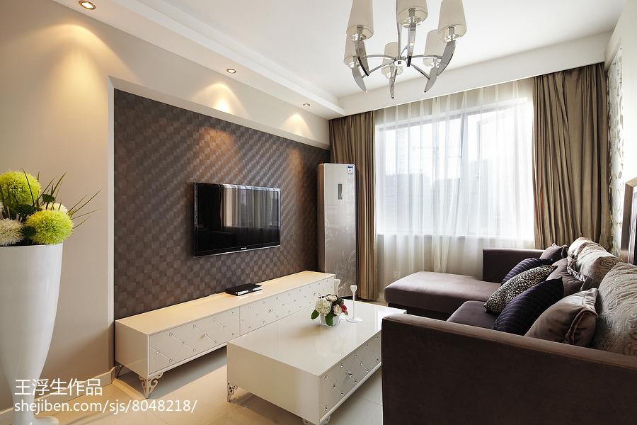 2018精选104平米三居客厅简约设计效果图