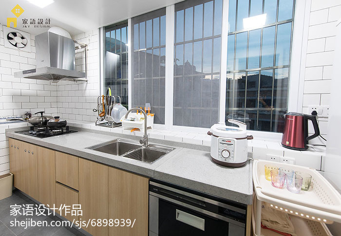 75平米日式小户型厨房装修实景图片欣赏