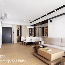2018精选面积75平现代二居客厅实景图片大全