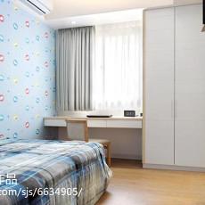 精美70平方二居卧室现代装修实景图
