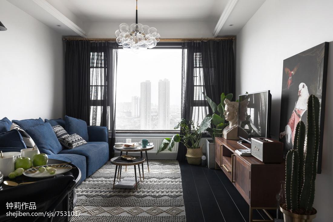 2018精选74平米北欧小户型客厅设计效果图