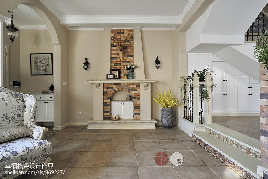浪漫45平地中海复式客厅实景图片