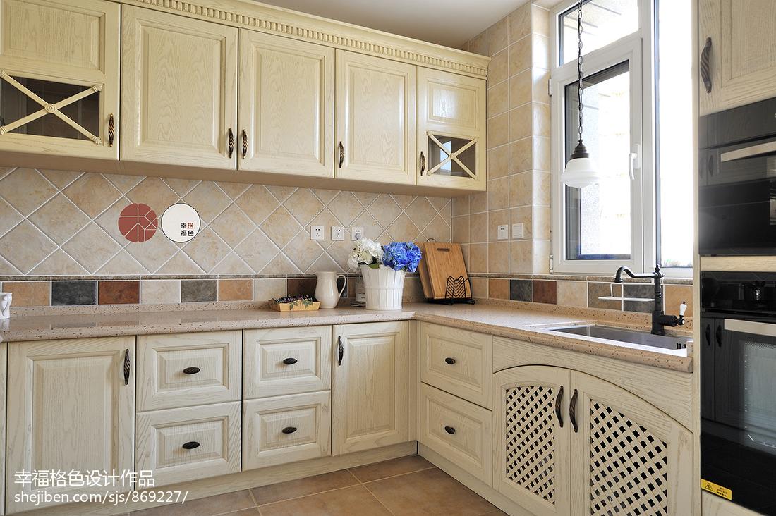 典雅49平地中海复式厨房案例图