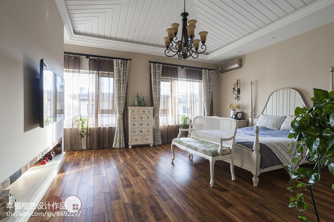 悠雅59平地中海复式卧室效果图片大全