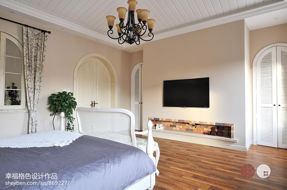 质朴59平地中海复式卧室设计效果图