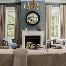 热门面积130平复式客厅美式装修设计效果图片