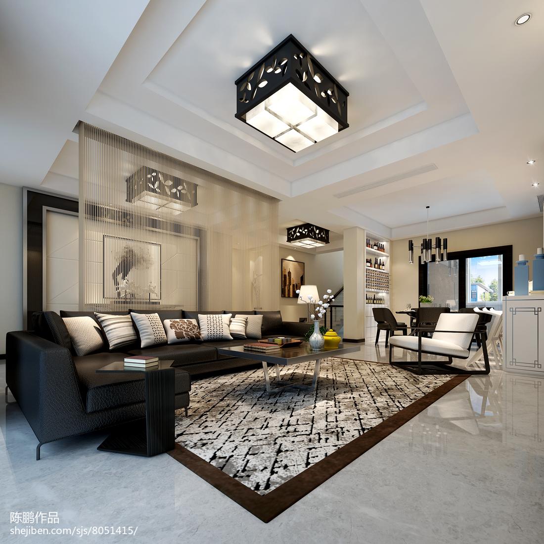 热门别墅客厅简约装修设计效果图片欣赏
