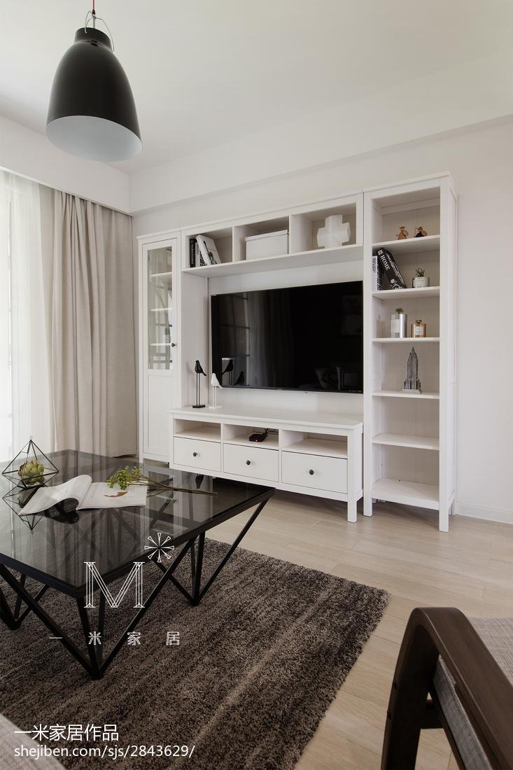 2018精选面积95平北欧三居客厅欣赏图片