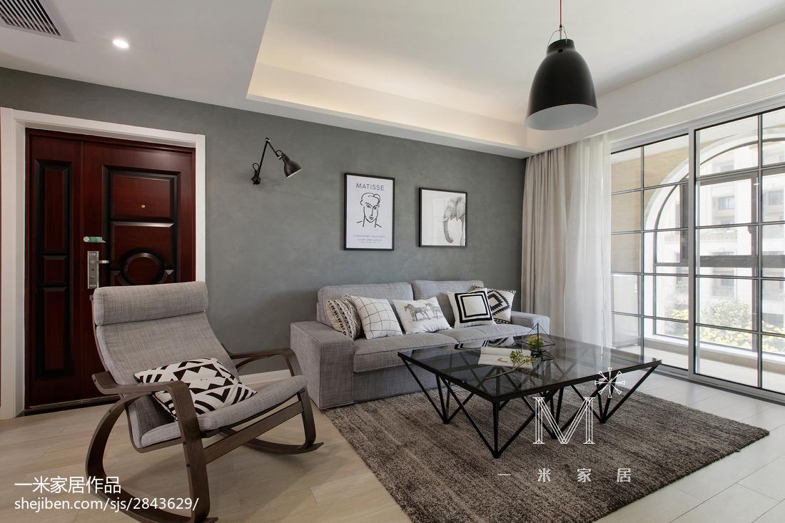 精选97平米三居客厅北欧装饰图片