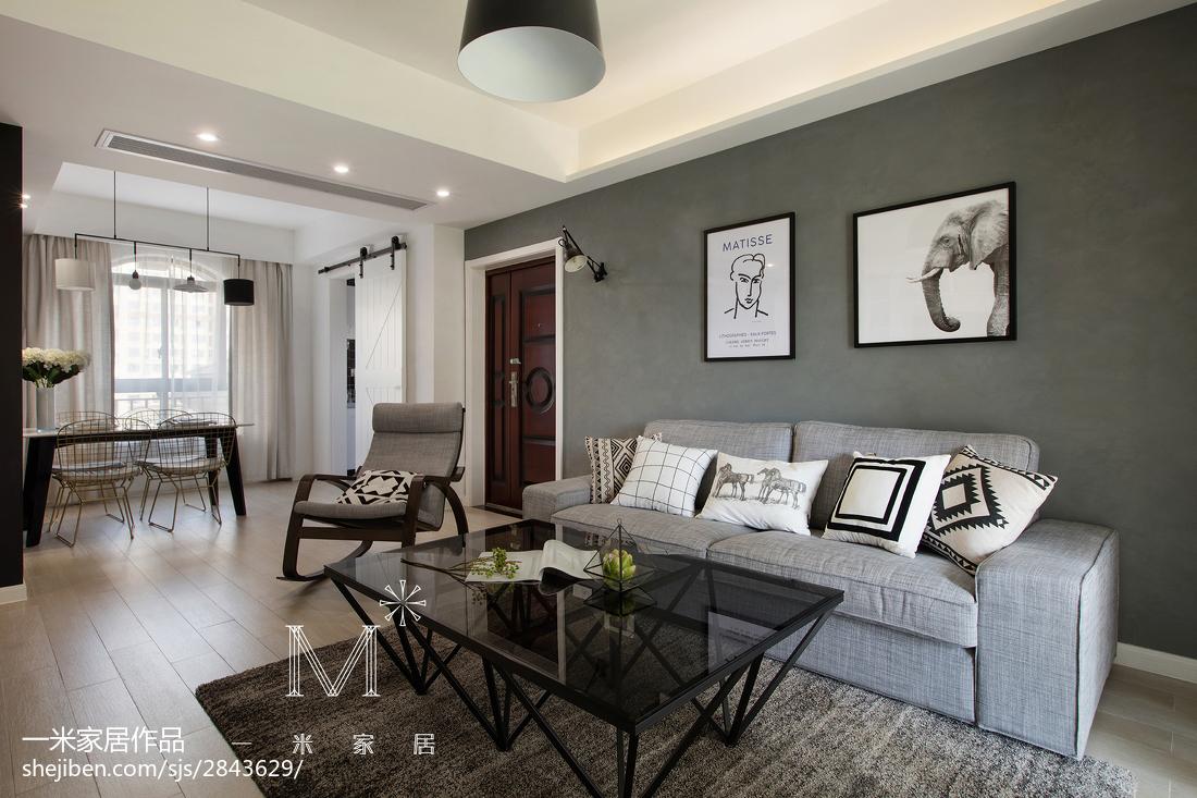 热门面积94平北欧三居客厅装修设计效果图片大全