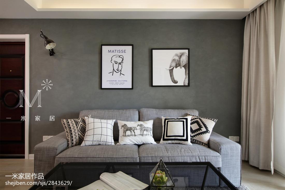 热门91平米三居客厅北欧装修设计效果图片欣赏