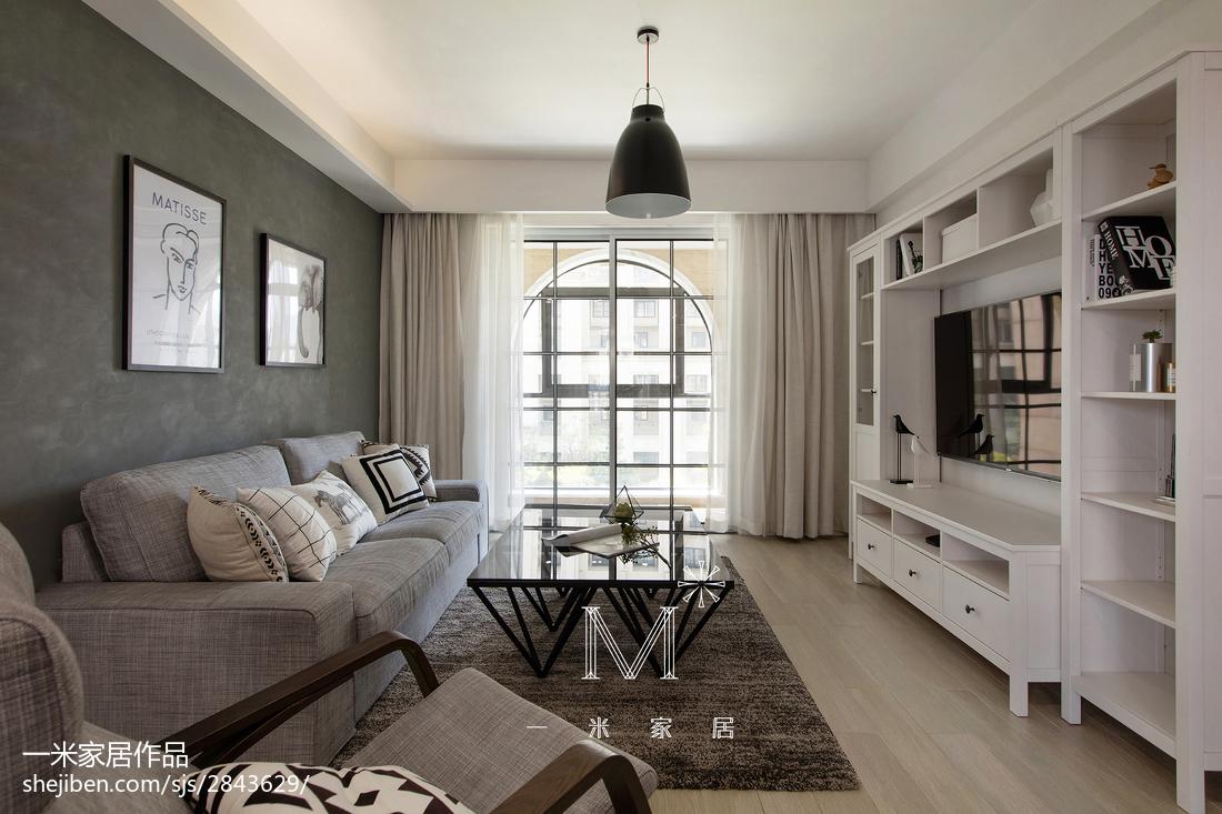 面积95平北欧三居客厅装修效果图片欣赏