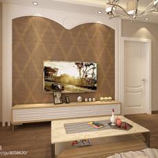 热门81平米二居客厅现代装修实景图片欣赏