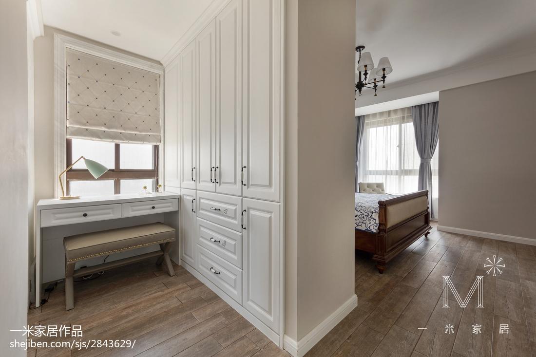 2018精选面积104平美式三居卧室欣赏图片