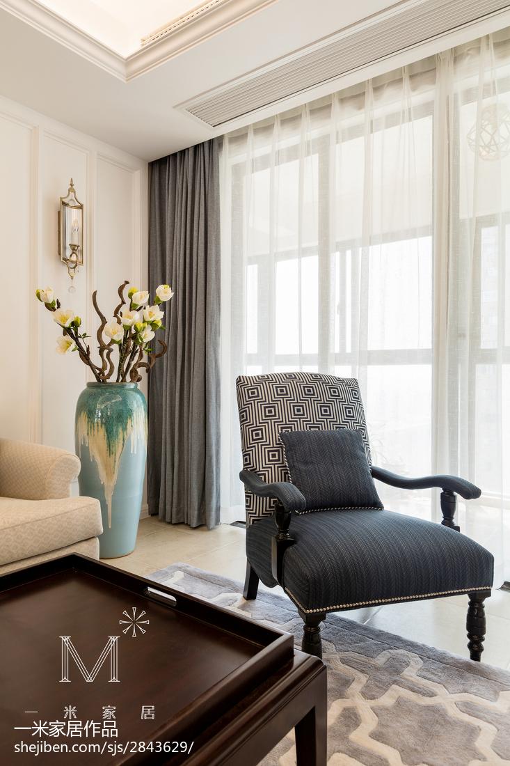 精选面积100平美式三居客厅装修图片