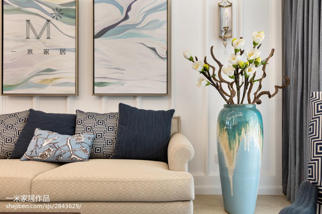 精美108平米三居客厅美式装修设计效果图