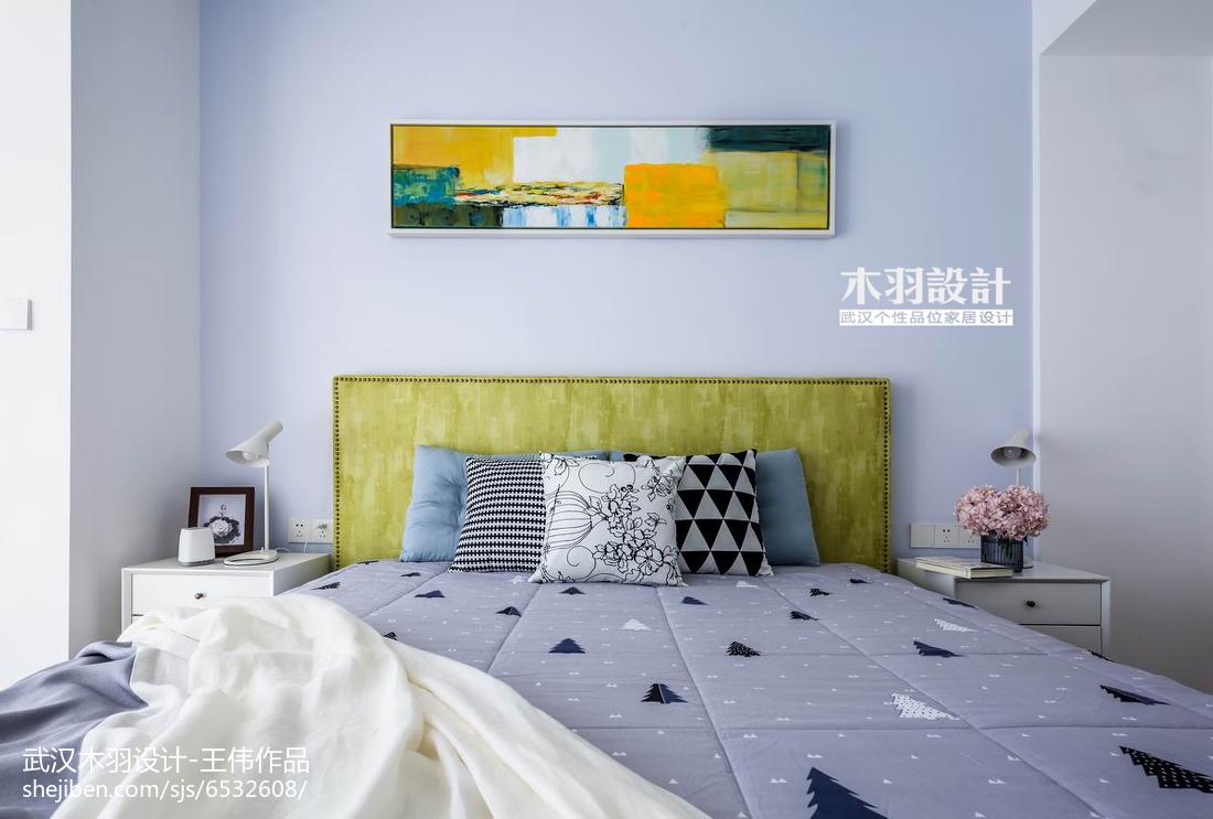 精美面积74平混搭二居卧室实景图