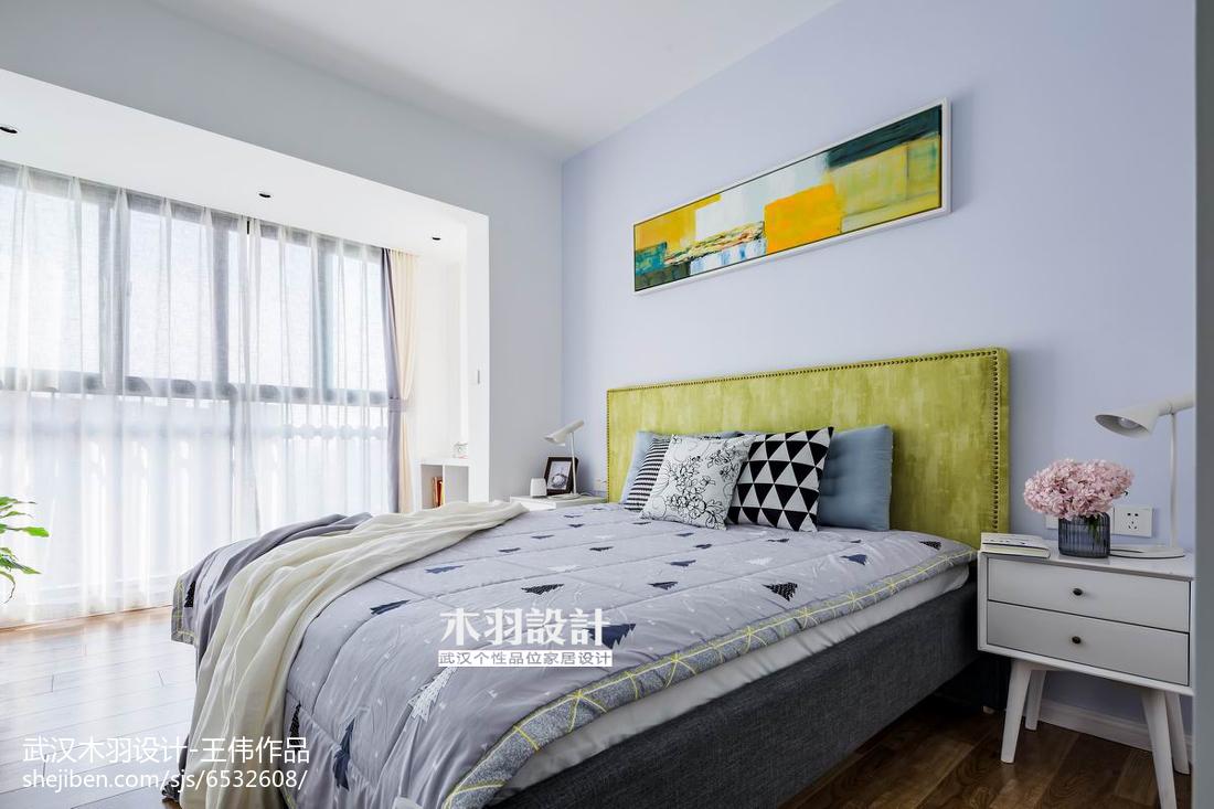精美面积81平混搭二居卧室装饰图