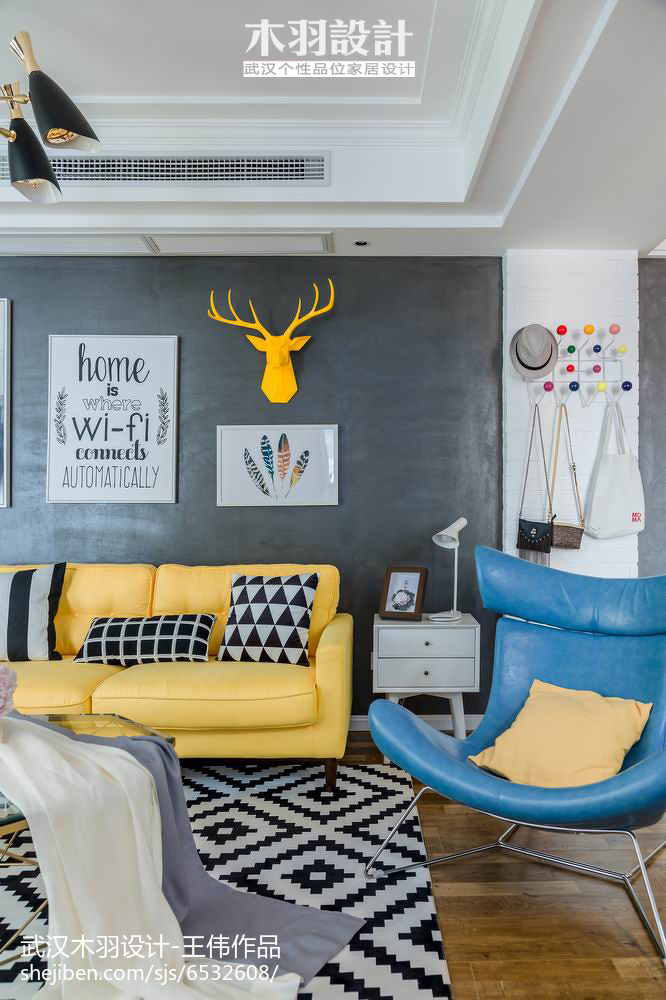 精美面积86平混搭二居客厅欣赏图片