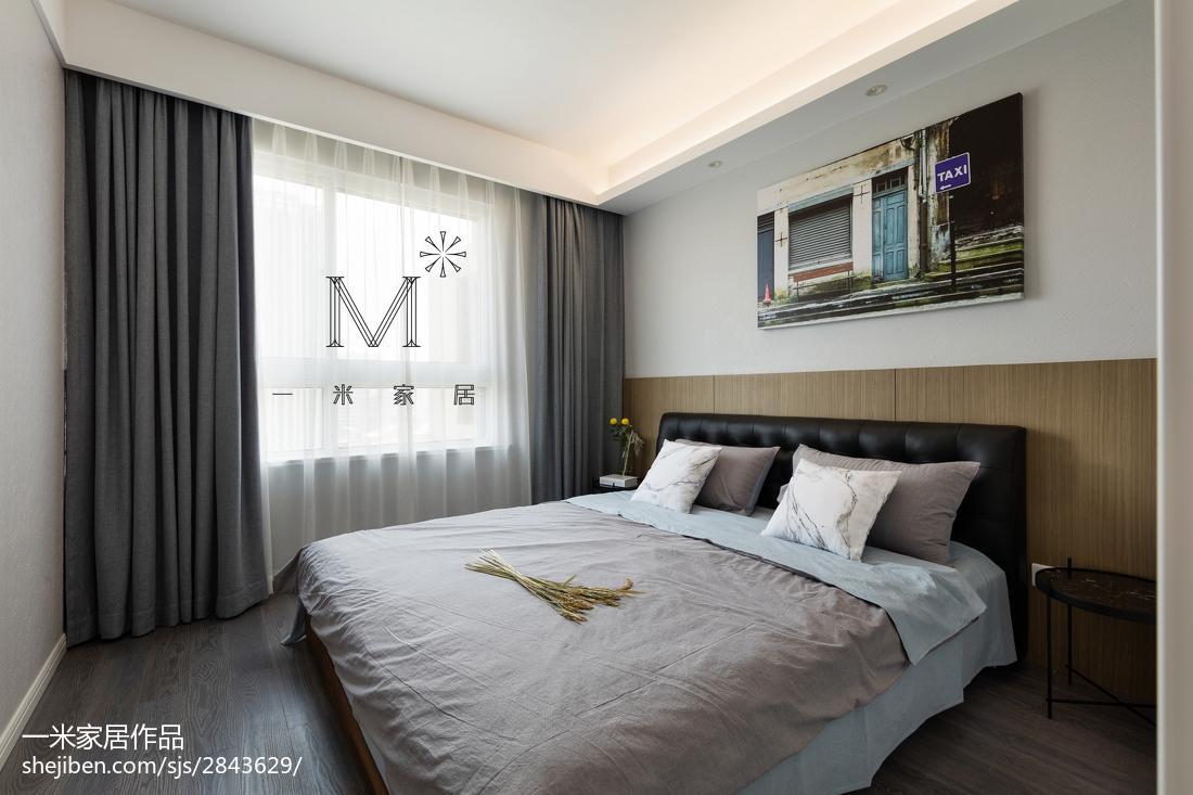 2018精选100平米三居卧室北欧装修设计效果图片大全