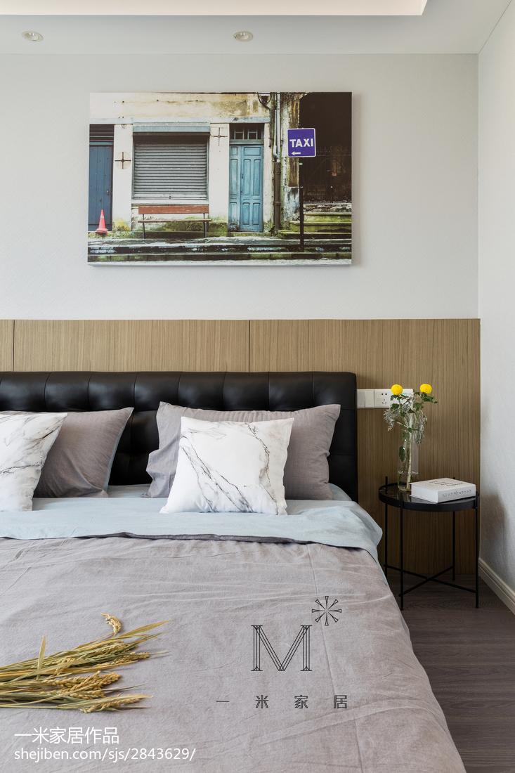 精选97平米三居卧室北欧装修效果图片