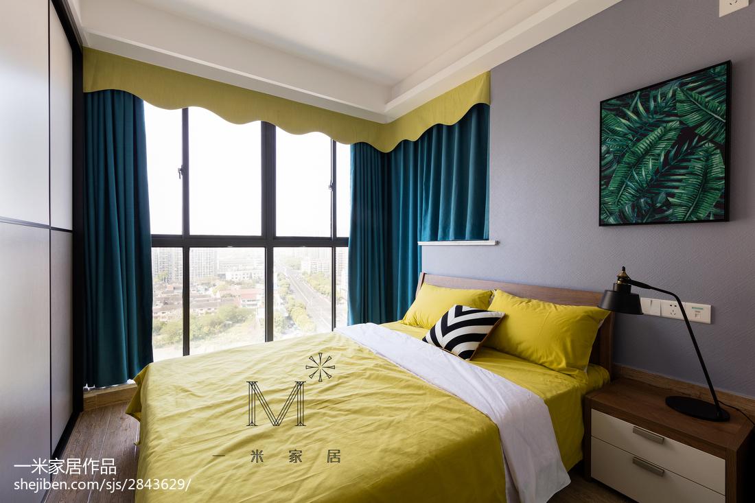 华丽80平北欧三居卧室设计案例
