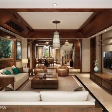 2018复式客厅东南亚效果图片大全