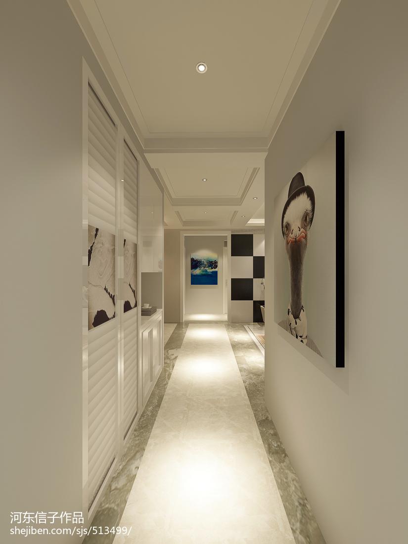 纯白色调舒适客厅装修效果图