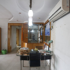 面积92平现代三居餐厅装修效果图片大全