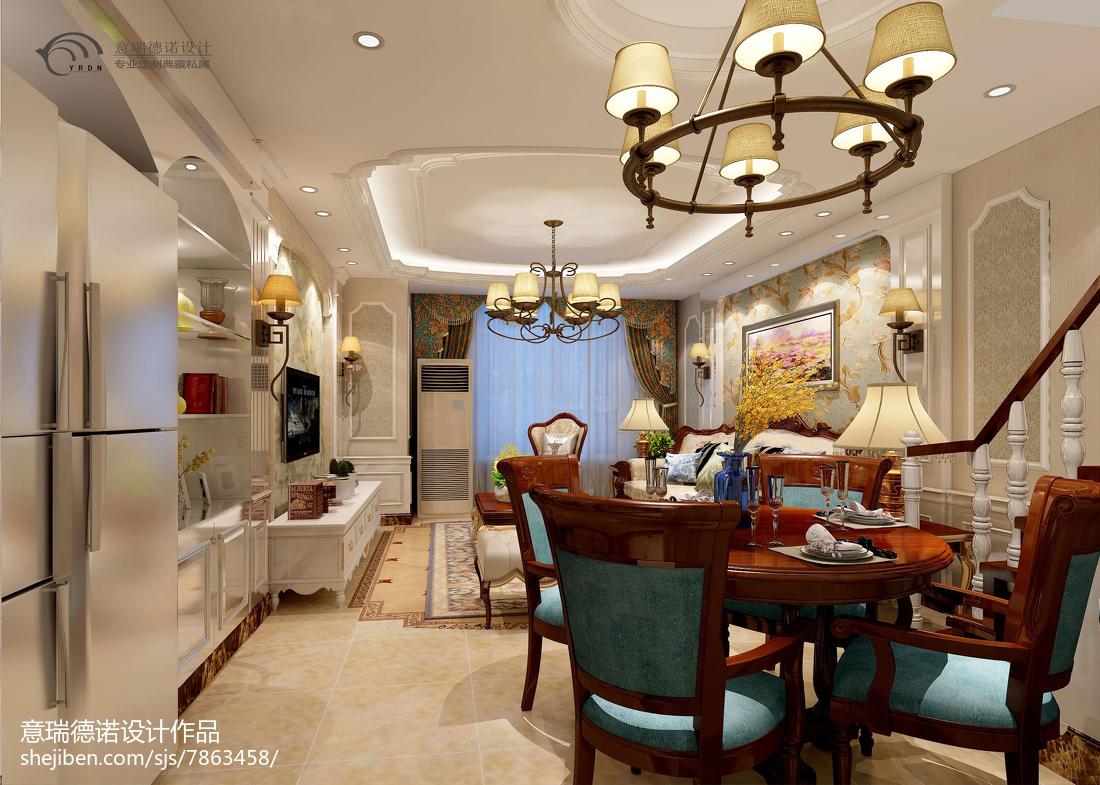 精美美式小户型客厅装修实景图片
