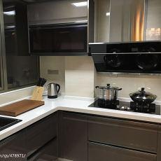 92平米三居厨房现代装修实景图