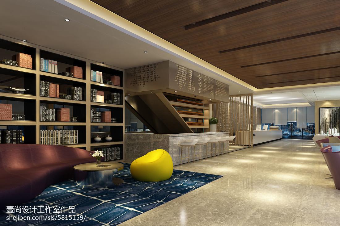 现代酒店设计室内走廊装饰效果图欣赏