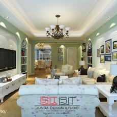 精美90平米三居客厅田园效果图片欣赏