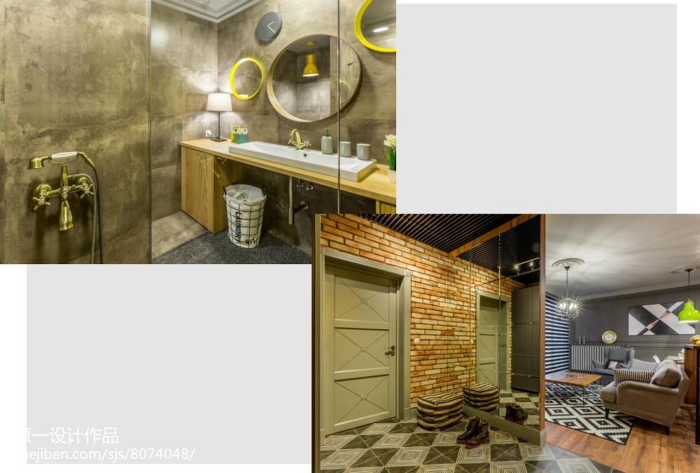 78平米简约小户型卫生间装修效果图片