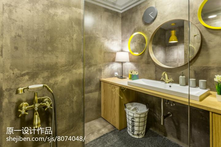 2018精选面积76平小户型卫生间简约装修设计效果图片欣赏