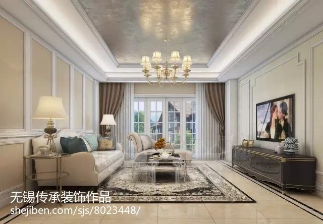 新中式古典风格别墅室内设计效果图
